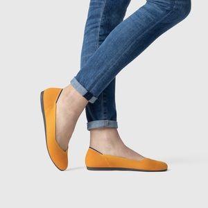 Rothys Lemon Drop Yellow Round Toe Flats
